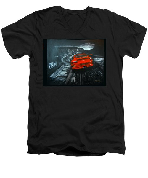 Porsche Gt3 Le Mans Men's V-Neck T-Shirt