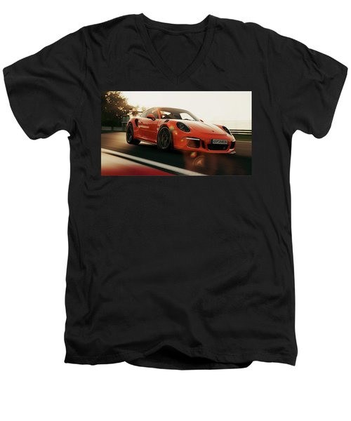 Porsche Gt3 Rs - 4 Men's V-Neck T-Shirt