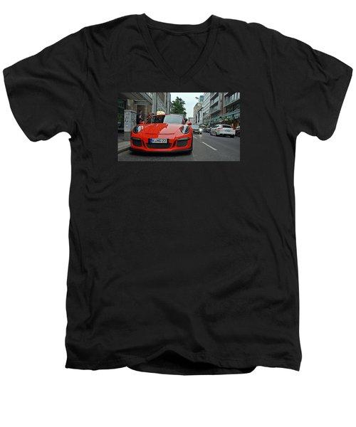 Porsche Gt3 Rs Men's V-Neck T-Shirt