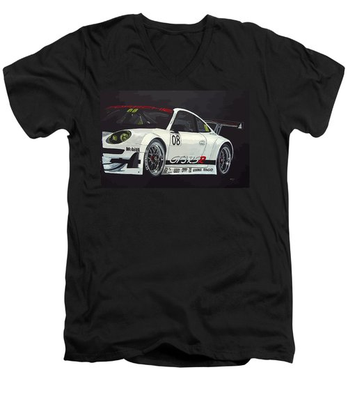 Porsche Gt3 Rsr Men's V-Neck T-Shirt