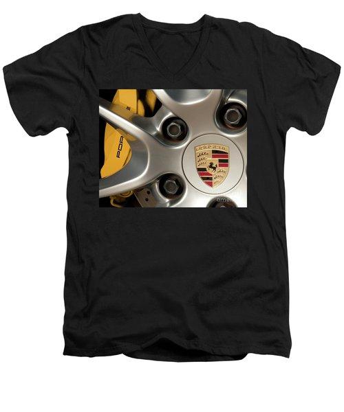 Porsche Wheel Detail #2 Men's V-Neck T-Shirt