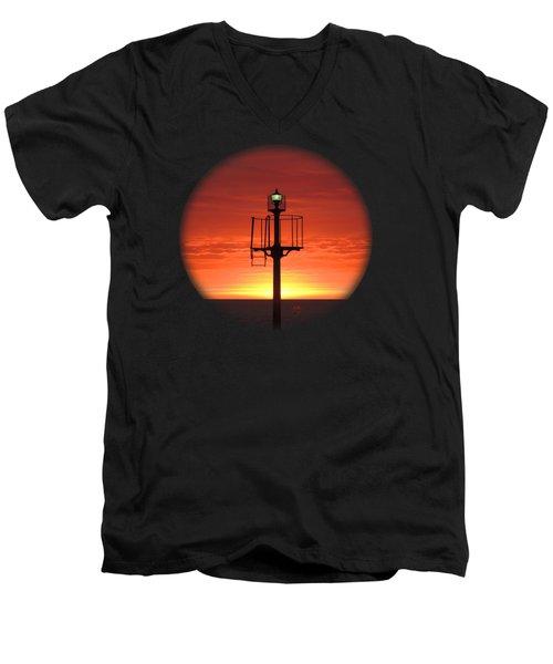 Port Hughes Lookout Men's V-Neck T-Shirt by Linda Hollis