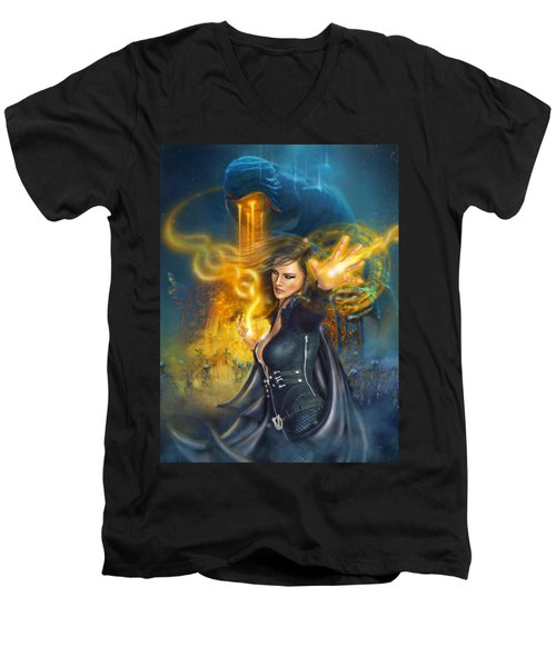 Portal Magician Men's V-Neck T-Shirt