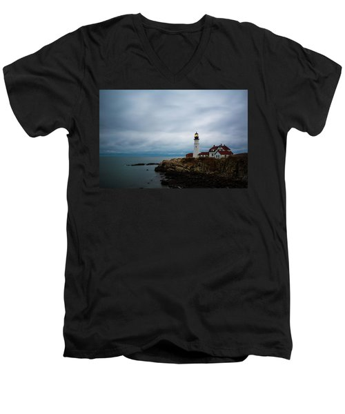 Portland Head Light 2 Men's V-Neck T-Shirt
