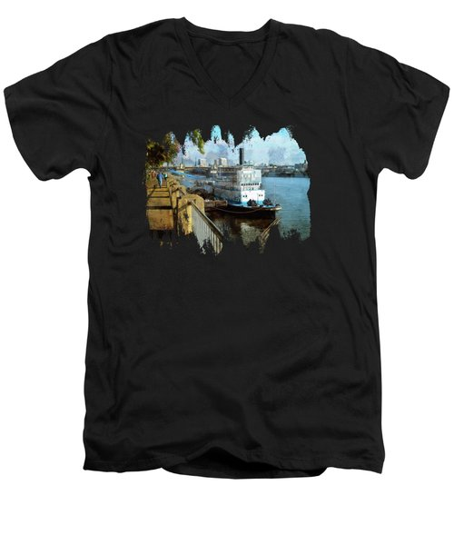 Portland Sunday Walk Men's V-Neck T-Shirt