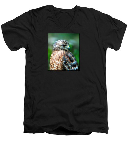 Portrait Of A Hawk Men's V-Neck T-Shirt