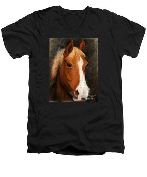 Portrait Of A Horse Men's V-Neck T-Shirt