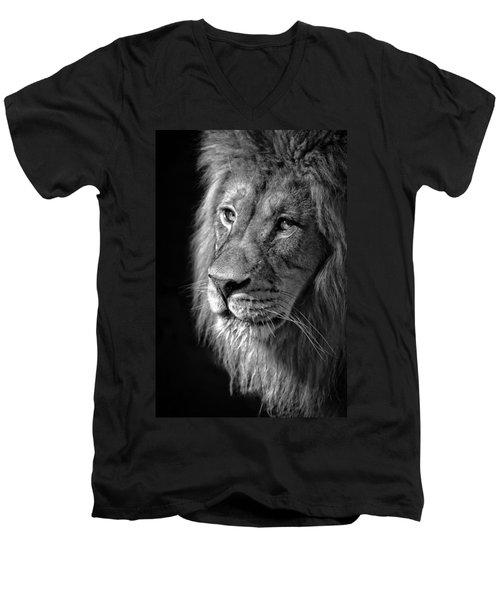 Portrait Of A King Men's V-Neck T-Shirt