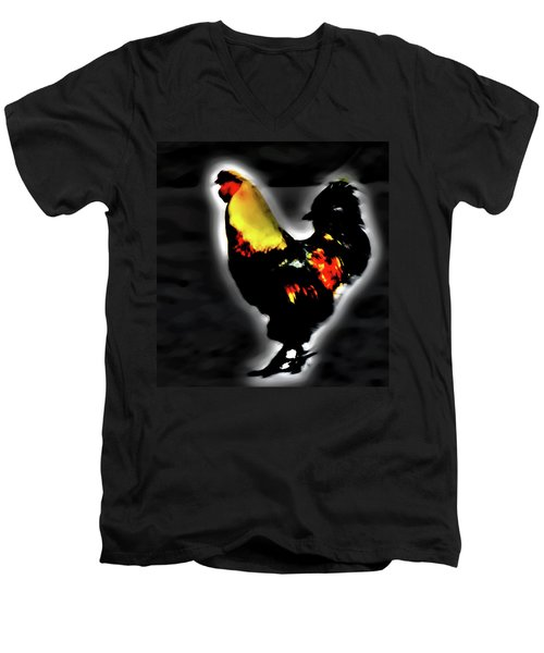 Portrait Of A Rooster Men's V-Neck T-Shirt