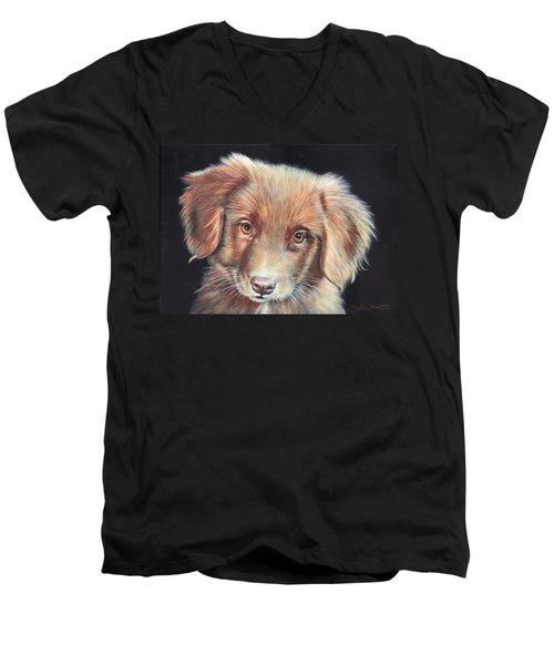 Portrait Of Toby Men's V-Neck T-Shirt