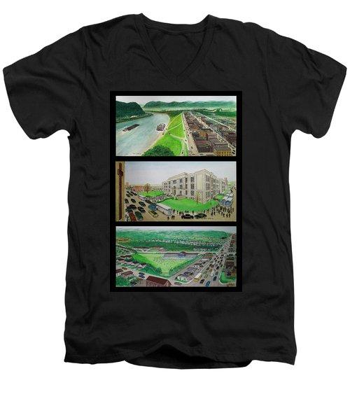 Portsmouth Ohio 1955 Men's V-Neck T-Shirt