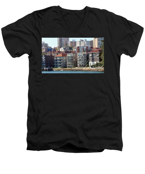 Men's V-Neck T-Shirt featuring the photograph Posh Burbs by Stephen Mitchell