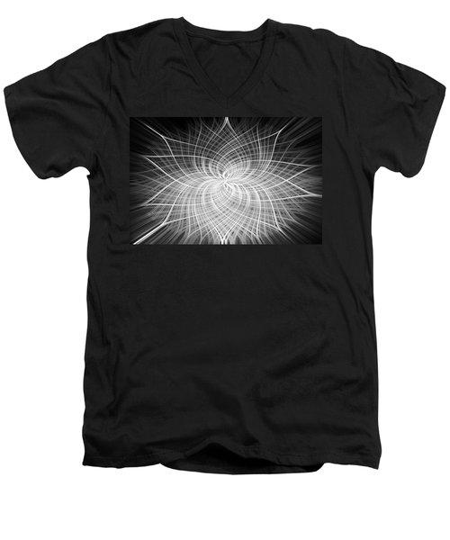 Men's V-Neck T-Shirt featuring the digital art Positivity by Carolyn Marshall