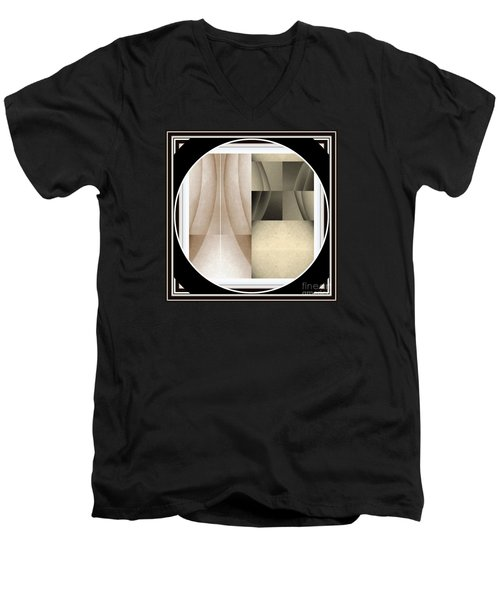 Men's V-Neck T-Shirt featuring the photograph Post Modern Woman Series Two by Jack Dillhunt