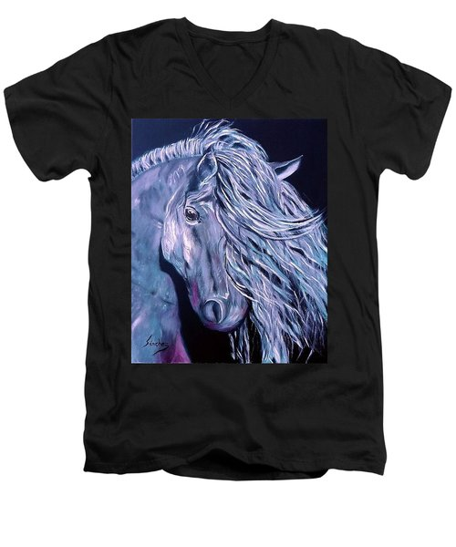 Potro Men's V-Neck T-Shirt by Manuel Sanchez