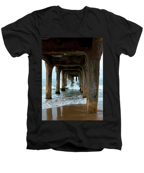 Pounded Pier Men's V-Neck T-Shirt