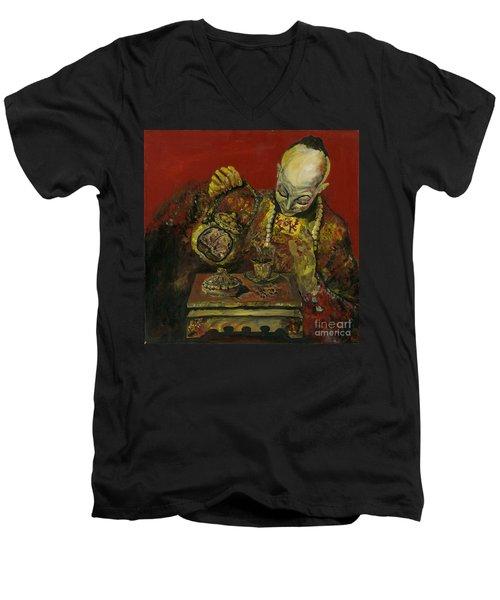 Pouring Tea Men's V-Neck T-Shirt