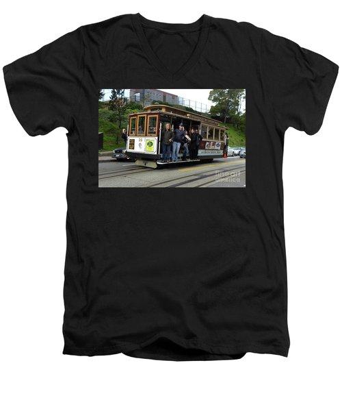 Powell And Market Street Trolley Men's V-Neck T-Shirt