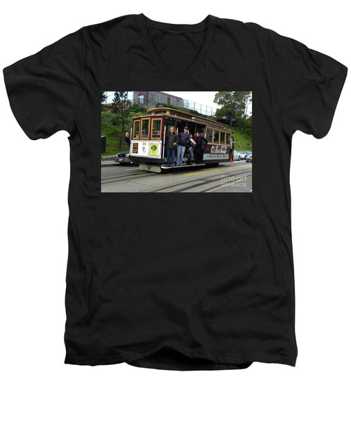 Powell And Market Street Trolley Men's V-Neck T-Shirt