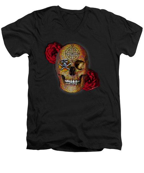 Power And Wisdom Men's V-Neck T-Shirt by Iowan Stone-Flowers