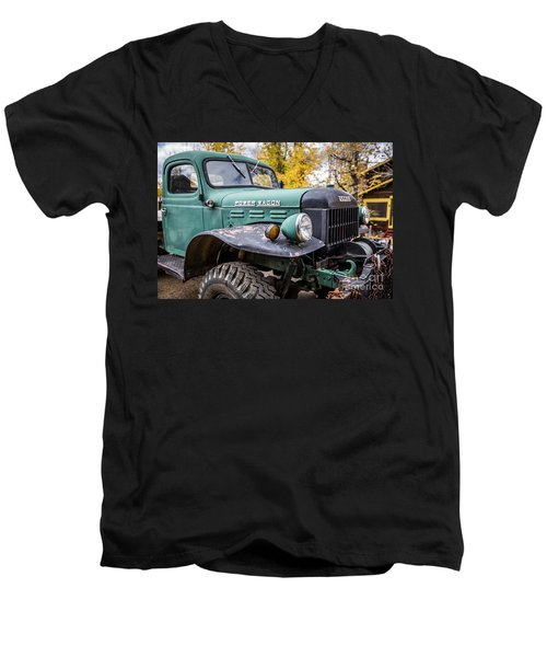 Power Wagon Men's V-Neck T-Shirt by Lynn Sprowl