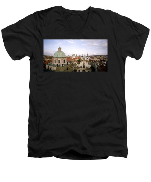 Prague Twilight Men's V-Neck T-Shirt by Shaun Higson