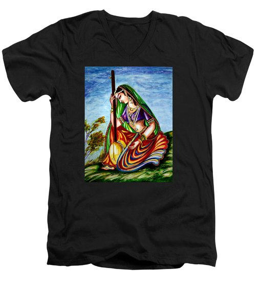 Krishna - Prayer Men's V-Neck T-Shirt