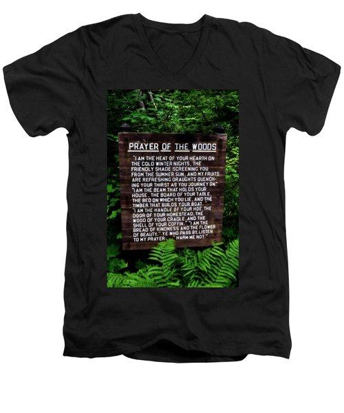 Prayer Of The Woods Men's V-Neck T-Shirt