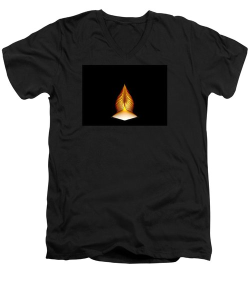 Men's V-Neck T-Shirt featuring the digital art Prayer Shrine 1 by Richard Ortolano