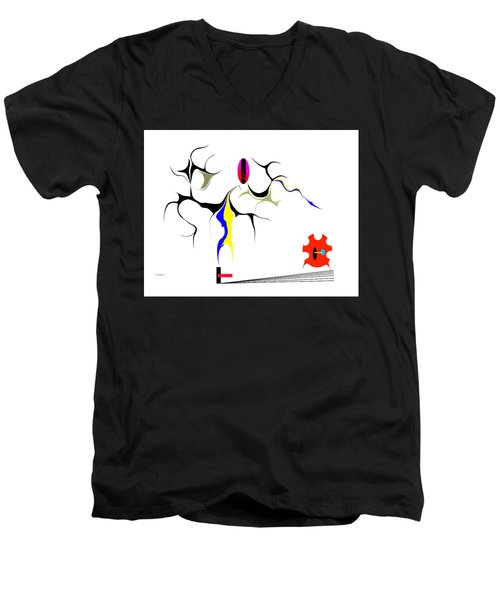 Precarious Study No.7 Men's V-Neck T-Shirt