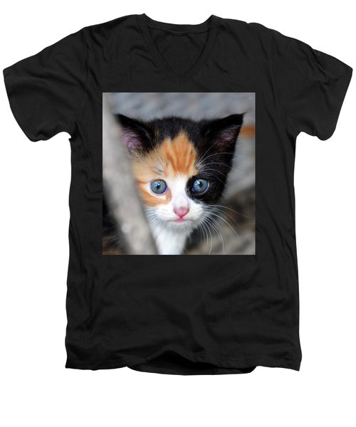 Men's V-Neck T-Shirt featuring the photograph Precious by David Lee Thompson