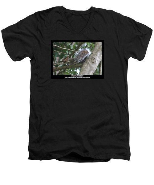Men's V-Neck T-Shirt featuring the photograph Preparation by Robert Banach