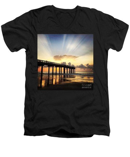Presence Men's V-Neck T-Shirt by LeeAnn Kendall