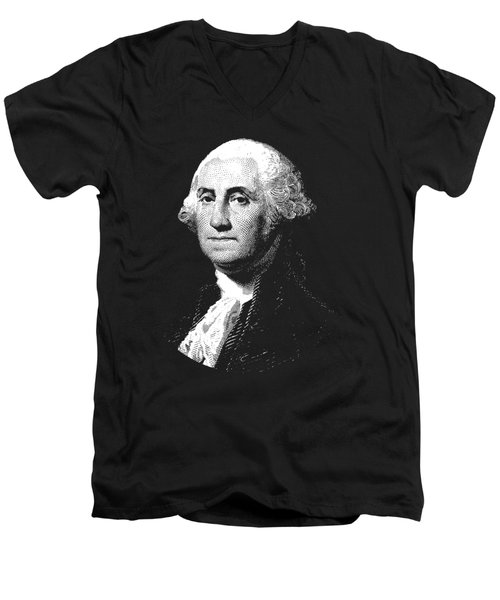 President George Washington Graphic  Men's V-Neck T-Shirt by War Is Hell Store