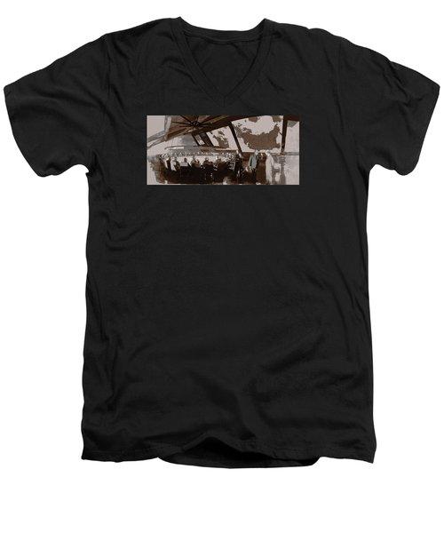 President Muffley's Dilemma Men's V-Neck T-Shirt by Kurt Ramschissel