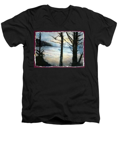 Presque Isle Dawn Men's V-Neck T-Shirt