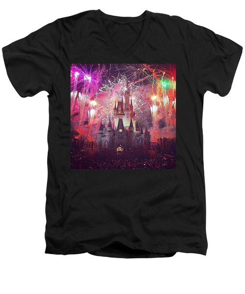 The Happiest Place On Earth  Men's V-Neck T-Shirt