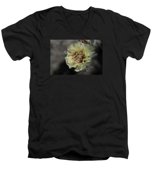 Prickly Pear Blossom 3 Men's V-Neck T-Shirt