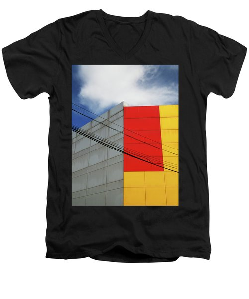 Men's V-Neck T-Shirt featuring the photograph Primarily 1 by Skip Hunt