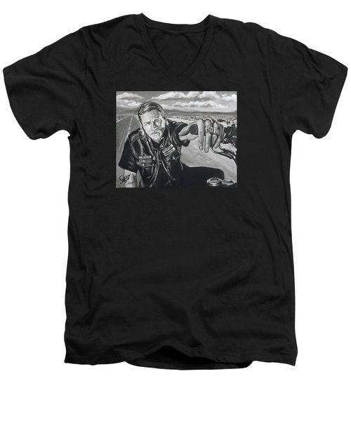 Prince Charming - Jax Men's V-Neck T-Shirt by Tom Carlton