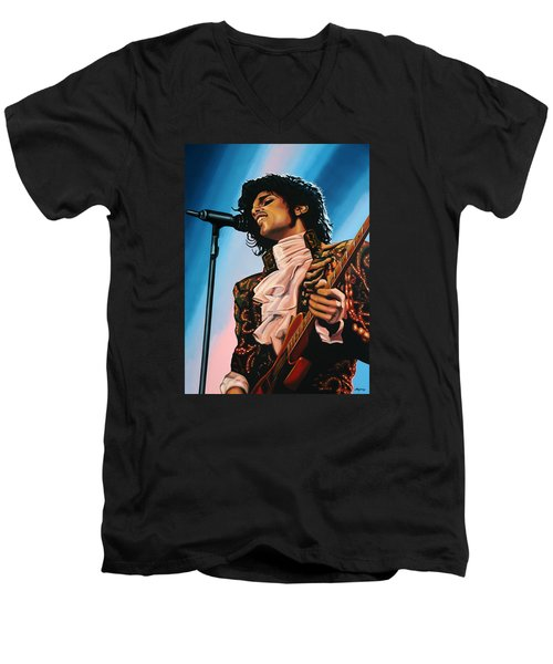 Prince Painting Men's V-Neck T-Shirt
