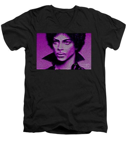 Prince - Tribute In Purple Men's V-Neck T-Shirt