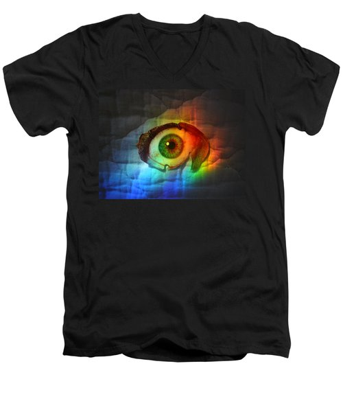 Prismaeye Men's V-Neck T-Shirt by Douglas Fromm