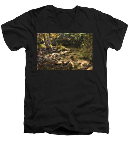 Men's V-Neck T-Shirt featuring the photograph Private Retreat by Tamyra Ayles