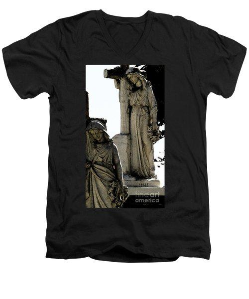 Procession Of Faith Men's V-Neck T-Shirt