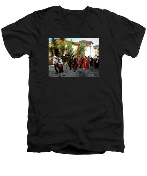 Procession Of Saint Clement Men's V-Neck T-Shirt