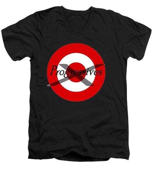 Progressives Men's V-Neck T-Shirt by  Newwwman