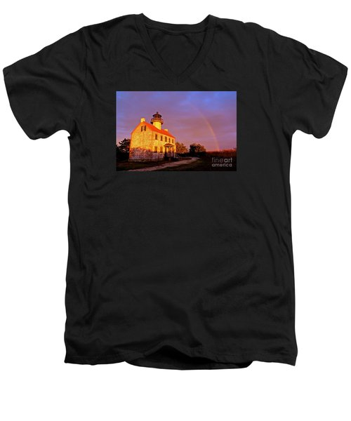Men's V-Neck T-Shirt featuring the photograph Promise  by Nancy Patterson