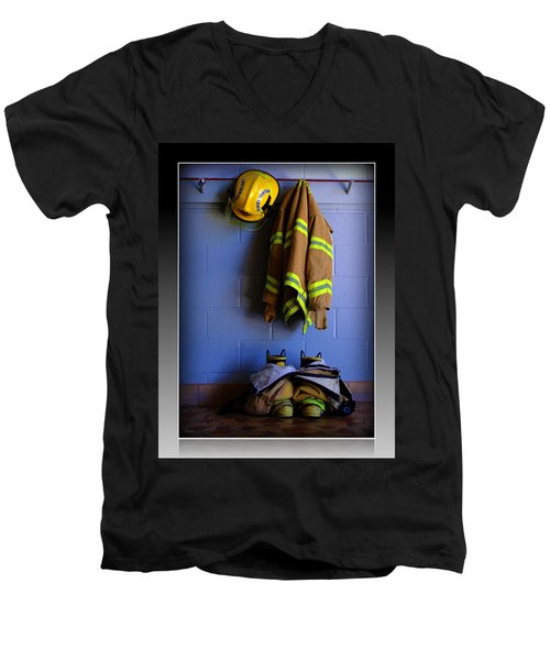 Protect And Serve Men's V-Neck T-Shirt