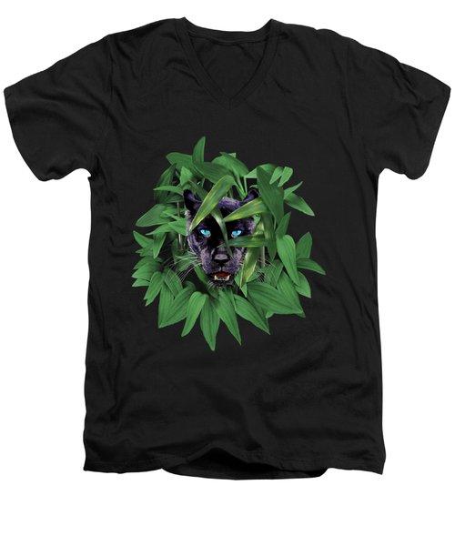 Prowling Panther Men's V-Neck T-Shirt